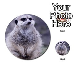 Adorable Meerkat 03 Multi Purpose Cards (round)