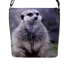 Adorable Meerkat 03 Flap Messenger Bag (L)