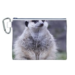 Adorable Meerkat 03 Canvas Cosmetic Bag (L)