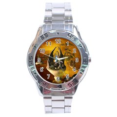 The Forgotten World In The Sky Stainless Steel Men s Watch