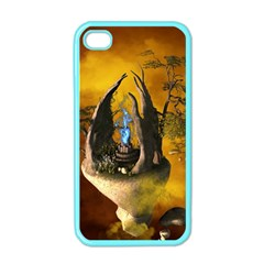 The Forgotten World In The Sky Apple iPhone 4 Case (Color)