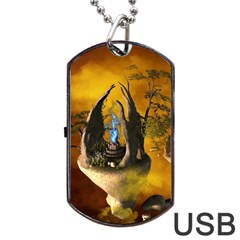 The Forgotten World In The Sky Dog Tag Usb Flash (two Sides)