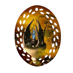 The Forgotten World In The Sky Ornament (Oval Filigree)
