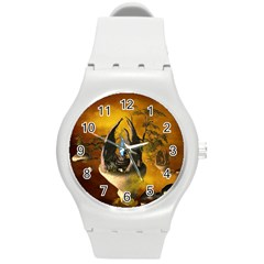 The Forgotten World In The Sky Round Plastic Sport Watch (M)