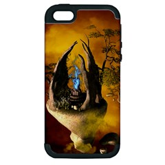 The Forgotten World In The Sky Apple iPhone 5 Hardshell Case (PC+Silicone)