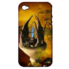 The Forgotten World In The Sky Apple iPhone 4/4S Hardshell Case (PC+Silicone)