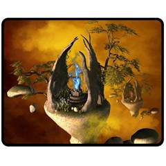 The Forgotten World In The Sky Double Sided Fleece Blanket (medium)