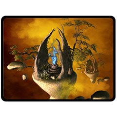 The Forgotten World In The Sky Double Sided Fleece Blanket (Large)