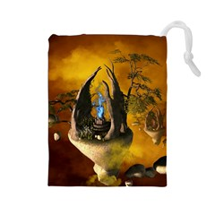The Forgotten World In The Sky Drawstring Pouches (Large)