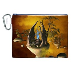 The Forgotten World In The Sky Canvas Cosmetic Bag (XXL)