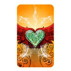 Beautiful Heart Made Of Diamond With Wings And Floral Elements Memory Card Reader