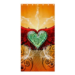 Beautiful Heart Made Of Diamond With Wings And Floral Elements Shower Curtain 36  x 72  (Stall)