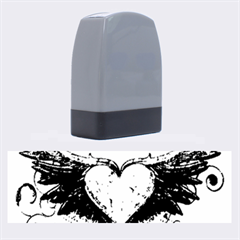 Beautiful Heart Made Of Diamond With Wings And Floral Elements Name Stamps