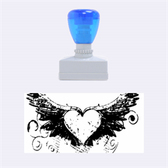 Beautiful Heart Made Of Diamond With Wings And Floral Elements Rubber Stamps (medium)