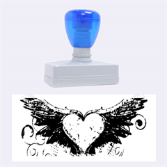 Beautiful Heart Made Of Diamond With Wings And Floral Elements Rubber Stamps (large)