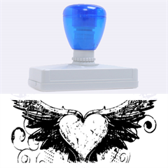 Beautiful Heart Made Of Diamond With Wings And Floral Elements Rubber Address Stamps (XL)
