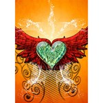 Beautiful Heart Made Of Diamond With Wings And Floral Elements Get Well 3D Greeting Card (7x5)  Inside