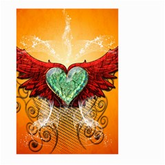Beautiful Heart Made Of Diamond With Wings And Floral Elements Large Garden Flag (Two Sides)