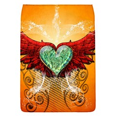 Beautiful Heart Made Of Diamond With Wings And Floral Elements Flap Covers (S)