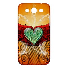 Beautiful Heart Made Of Diamond With Wings And Floral Elements Samsung Galaxy Mega 5.8 I9152 Hardshell Case