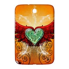 Beautiful Heart Made Of Diamond With Wings And Floral Elements Samsung Galaxy Note 8.0 N5100 Hardshell Case