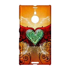 Beautiful Heart Made Of Diamond With Wings And Floral Elements Nokia Lumia 1520