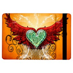 Beautiful Heart Made Of Diamond With Wings And Floral Elements iPad Air Flip