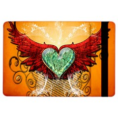 Beautiful Heart Made Of Diamond With Wings And Floral Elements iPad Air 2 Flip