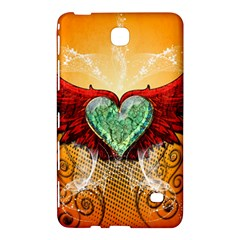 Beautiful Heart Made Of Diamond With Wings And Floral Elements Samsung Galaxy Tab 4 (7 ) Hardshell Case