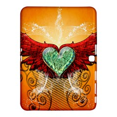 Beautiful Heart Made Of Diamond With Wings And Floral Elements Samsung Galaxy Tab 4 (10.1 ) Hardshell Case