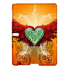 Beautiful Heart Made Of Diamond With Wings And Floral Elements Samsung Galaxy Tab S (10.5 ) Hardshell Case