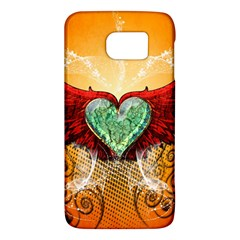 Beautiful Heart Made Of Diamond With Wings And Floral Elements Galaxy S6
