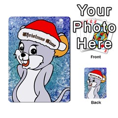 Funny Cute Christmas Mouse With Christmas Tree And Snowflakses Multi Purpose Cards (rectangle)