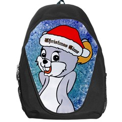 Funny Cute Christmas Mouse With Christmas Tree And Snowflakses Backpack Bag