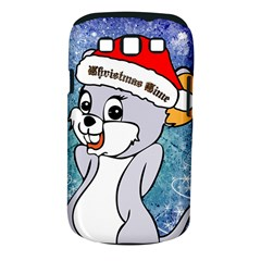Funny Cute Christmas Mouse With Christmas Tree And Snowflakses Samsung Galaxy S III Classic Hardshell Case (PC+Silicone)