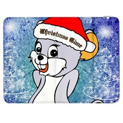 Funny Cute Christmas Mouse With Christmas Tree And Snowflakses Samsung Galaxy Tab 7  P1000 Flip Case