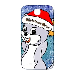 Funny Cute Christmas Mouse With Christmas Tree And Snowflakses Samsung Galaxy S4 I9500/I9505  Hardshell Back Case