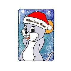 Funny Cute Christmas Mouse With Christmas Tree And Snowflakses iPad Mini 2 Hardshell Cases