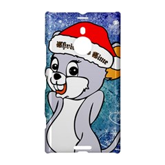 Funny Cute Christmas Mouse With Christmas Tree And Snowflakses Nokia Lumia 1520