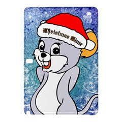 Funny Cute Christmas Mouse With Christmas Tree And Snowflakses Samsung Galaxy Tab Pro 10.1 Hardshell Case