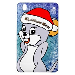 Funny Cute Christmas Mouse With Christmas Tree And Snowflakses Samsung Galaxy Tab Pro 8.4 Hardshell Case