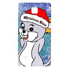 Funny Cute Christmas Mouse With Christmas Tree And Snowflakses Galaxy Note 4 Back Case