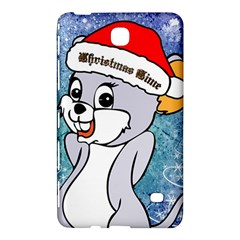 Funny Cute Christmas Mouse With Christmas Tree And Snowflakses Samsung Galaxy Tab 4 (8 ) Hardshell Case