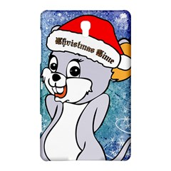 Funny Cute Christmas Mouse With Christmas Tree And Snowflakses Samsung Galaxy Tab S (8.4 ) Hardshell Case