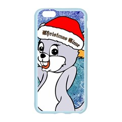 Funny Cute Christmas Mouse With Christmas Tree And Snowflakses Apple Seamless iPhone 6/6S Case (Color)