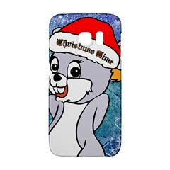 Funny Cute Christmas Mouse With Christmas Tree And Snowflakses Galaxy S6 Edge