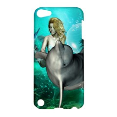 Beautiful Mermaid With  Dolphin With Bubbles And Water Splash Apple iPod Touch 5 Hardshell Case