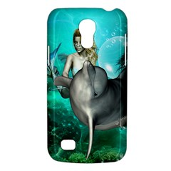 Beautiful Mermaid With  Dolphin With Bubbles And Water Splash Galaxy S4 Mini