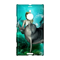Beautiful Mermaid With  Dolphin With Bubbles And Water Splash Nokia Lumia 1520