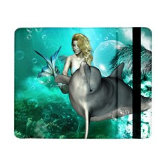 Beautiful Mermaid With  Dolphin With Bubbles And Water Splash Samsung Galaxy Tab Pro 8.4  Flip Case